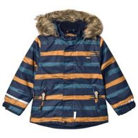 Minymo Herringbone Winter Jacket Navy 110 cm (4-5 år)