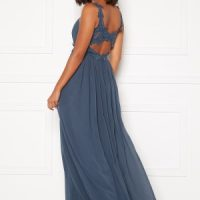 Moments New York Afrodite Chiffon Gown Blue 40