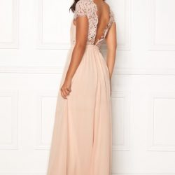 Moments New York Camellia Chiffon Gown Beige-pink 38