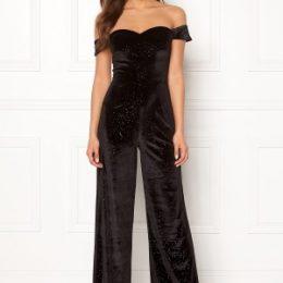 Moments New York Inda Velvet Jumpsuit Black 40