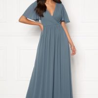 Moments New York Liana Chiffon Gown Grey-blue 40
