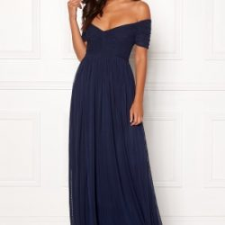Moments New York Lily Draped Gown Dark blue 36