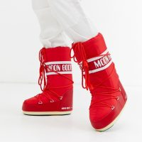 Moon Boot Nylon Icon snowboots in red