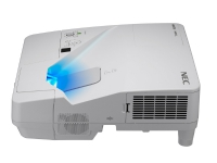 NEC UM351W - LCD-projektor - 3500 ANSI-lumen - WXGA (1280 x 800) - 16:10 - 720p - ultrakortkast linse - LAN