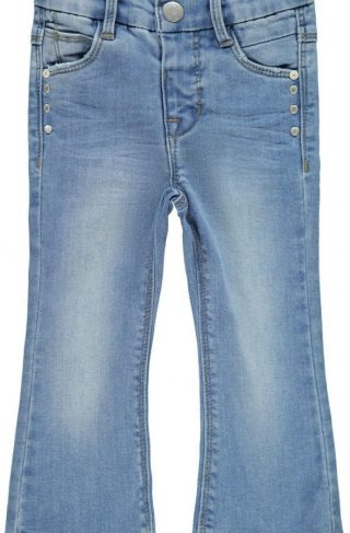 Name it Polly Bootcut Jeans, Light Blue Denim, 98