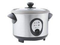 OBH Nordica Rice Cooker Inox - Riskoker - 1.8 liter - 400 W - grå / rustfritt stål