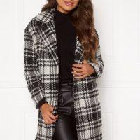 ONLY Dajana Check Wool Coat OTW Black M