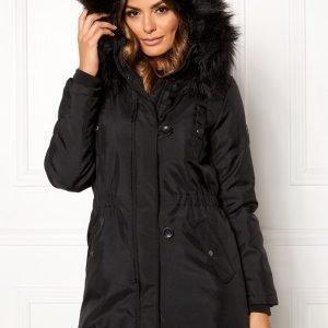 ONLY Iris Fur Winter Parka Black/Black fur XS