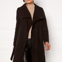 ONLY New Phoebe Drapy Coat Black L