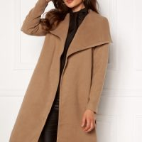 ONLY New Phoebe Drapy Coat Camel L