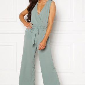 ONLY Nova Lux S/L Wrap Jumpsuit Chinois Green 40