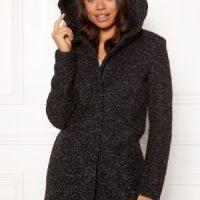 ONLY Sedona Boucle Wool Coat Black L