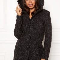 ONLY Sedona Boucle Wool Coat Black M