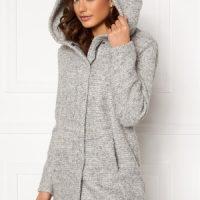 ONLY Sedona Boucle Wool Coat Light Grey Melange L