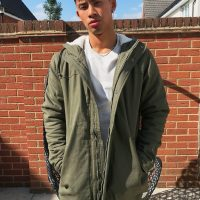 Only & Sons parka with fleece lined hood in khaki-Green
