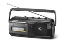 Panasonic RX-M40D, Bærbar, AM,FM, 88 - 108 MHz, 53 - 160 kHz, 1 W, 10 cm