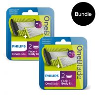 Philips - 2x Oneblade Body And Face Kit QP620/50 - Bundle