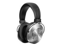 Pioneer SE-MS7BT - Style Series - hodetelefoner med mikrofon - on-ear - Bluetooth - trådløs - NFC - 3,5 mm jakk - sølv
