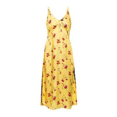 Raw edge slip dress