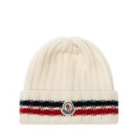 Rib-knit hat with logo