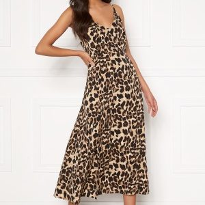 Sandra Willer X Bubbleroom Slit dress Leopard 38