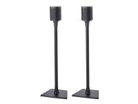 Sanus WSS22 - Stativ for høyttaler(e) - eloksert aluminium - svart - for Sonos One, PLAY:1, PLAY:3