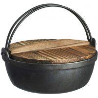 Satake Satake, Støpejernsgryte med ovnssikkert lokk og trelokk Ø 24 cm 2,7 l