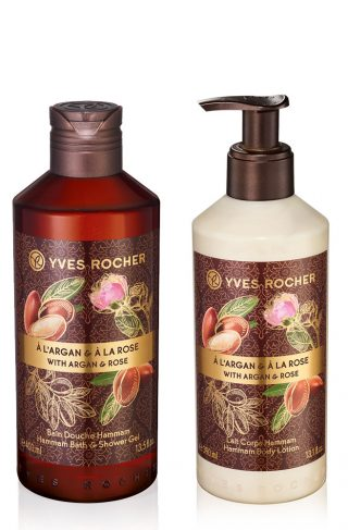 Sett - Argan, rose, body lotion, dusjsåpe