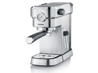 Severin Espresa Plus, Espressomaskin, 1,1 l, Kaffe pute, Malt kaffe, 1350 W, Svart, Rustfritt stål