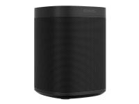 Sonos One (Gen2) - Smart højttaler - Ethernet / Wi-Fi - Airplay 2 - Stemmestyring - sort (gitterfarve - mat sort)