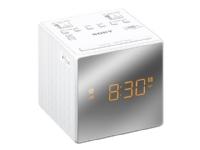 Sony ICF-C1T - Klokkeradio - 100 mW - hvit