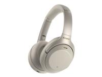Sony WH-1000XM3 - Hodetelefoner - full størrelse - Bluetooth - trådløs - NFC - aktiv støydemping - 3,5 mm jakk - sølv