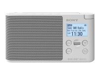 Sony XDR-S41D - Bærbar DAB-radio - 0.65 watt - hvit