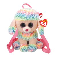 Ty Plush - Backpack - Rainbow Poodle (TY95005)