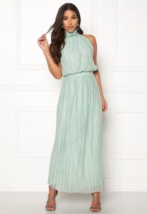 VILA Tippy S/L Maxi Dress Blue Haze S