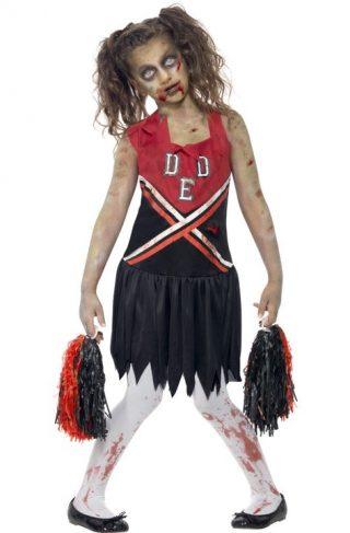 Zombie Cheerleader Kostyme Large