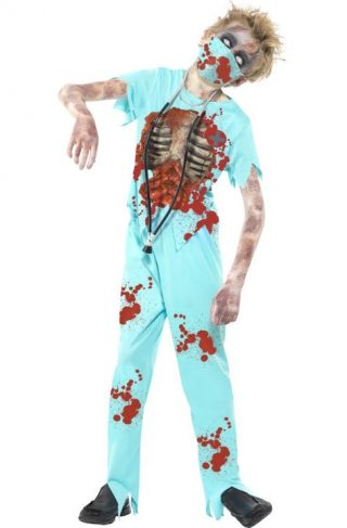 Zombie Kirurg Kostyme Ungdom