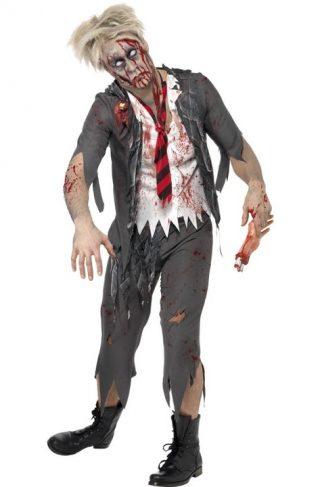 Zombie Skolegutt Kostyme Small