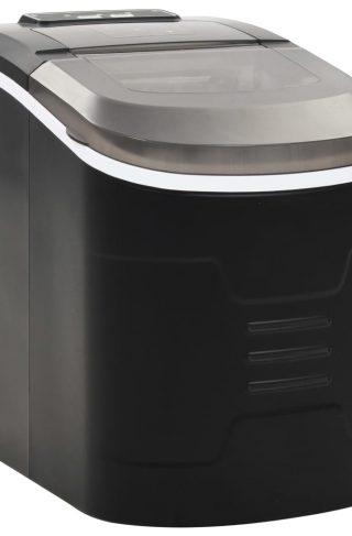 vidaXL Isbitmaskin 2,4 L 15 kg / 24 t svart