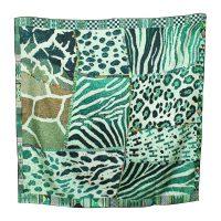Animal print 90cm Silk Scarf