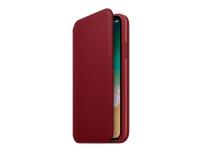 Apple (PRODUCT) RED - Lommebok for mobiltelefon - lær - rød - for iPhone X