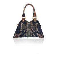 Beaded Devil Trapezio Tote Bag Handbag