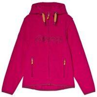 Bergans Pink Bryggen Youth Fleece Hooded Jakke 128 cm (7-8 år)