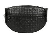 Braided leather belt bag