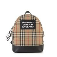 Burberry Nico Check Backpack Beige ONE SIZE