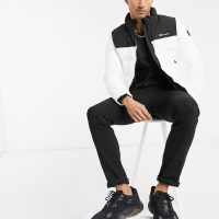 Champion high neck padded jacket in white