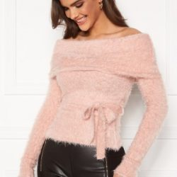 Chiara Forthi Beatricia furry offshoulder sweater Light pink L