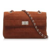 Choco Bar Reissue Suede Flap Bag