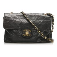 Classic Jumbo Lambskin Single Flap Bag