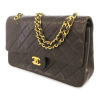 Classic Medium Lambskin Double Flap Bag